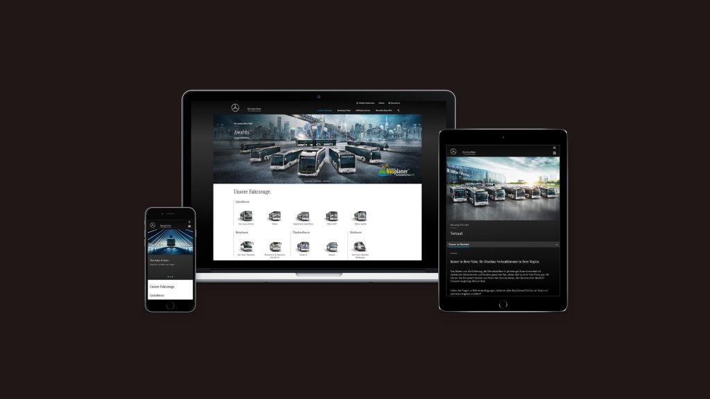 Code Red. Mercedes-Benz Buses Online Mockup