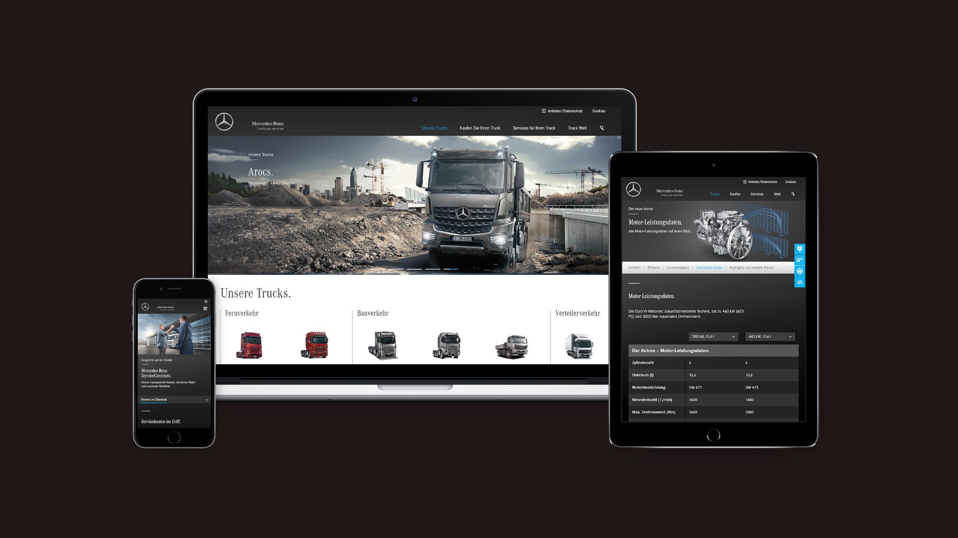 Code Red. Mercedes-Benz Trucks Online Mockup